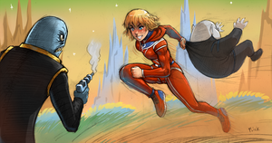 Alisa vs space pirates by Flick-the-Thief