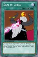 Deal of Greed (MLP): Yu-Gi-Oh! Card by PopPixieRex
