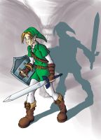 Link and his shadow WIP by SmilinJack