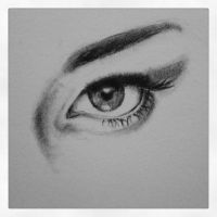 Eye sketch by LizzVisions