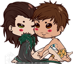 Loki and Tony Chibi by DaringElle
