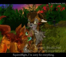 Sunset -Brambleclaw and Squirrelflight by JB-Pawstep