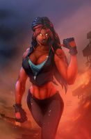Red Shehulk by vest