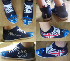 Dr WHO Shoes by Malk-White