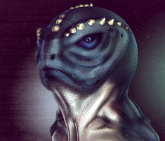 Frog-Fish-Lizard man re-render by toshema