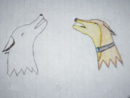 Kiba and Hige Howling by lucymaggielover