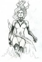 DarkPhoenix sketch by Romax25