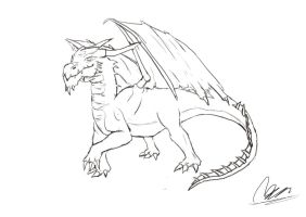 Dragon - Speed Sketch Session by mhofever