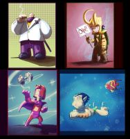 A-Z Marvel Daily Draw K-N by D-Gee