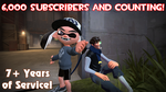 6,000 YouTube Subscribers Milestone by Sergeant-Sunflower
