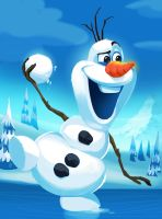 Olaf the Snowman by DanNeal