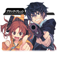 Black Bullet Folder Icon by danielanton