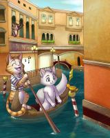 Cats in Venice by furinchime
