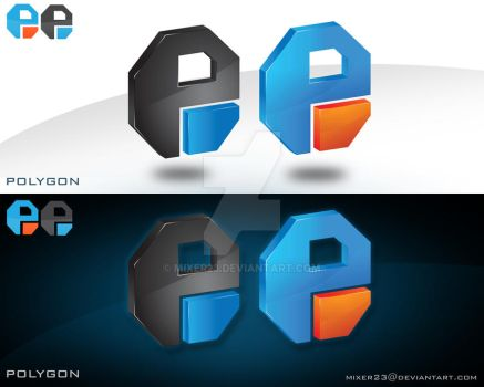 polygon logo by mixer23