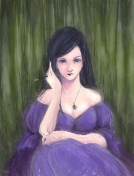 female in violet by scarecrow