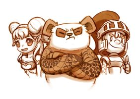 The Succubus, the white knight and the Yakuma by Delun
