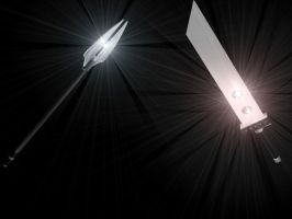 Ice Spear Vs Buster Sword by JayPrower