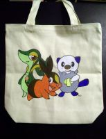 Hand painted pokemon tote bag by Miss-Melis