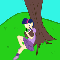 Twilight sitting at a tree by WarKittens