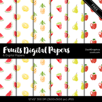 Fruits Digital Papers by MysticEmma
