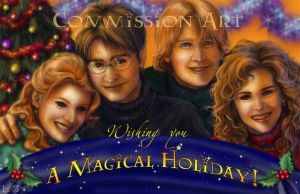 Potter Xmas card by leelastarsky