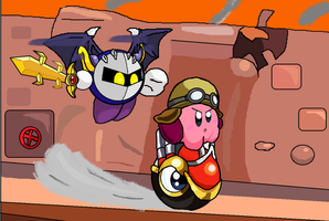 Escape the Halberd (Comissions) by luigikirby64