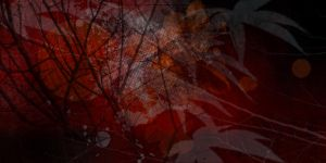 Red Forest Moon by KathleenCasey