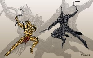 Dark Souls/Demon's Souls: Lautrec vs Yurt by MenasLG