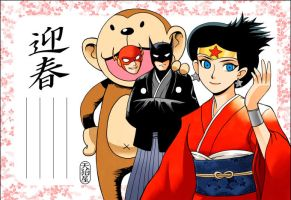 The New Year's card in 2004 by AMAKOMA-YA