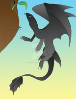 HTTYD: Tzephora has a drink by Tifa-the-Strange