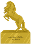 Magikos  Stables 1st place Trophy by DragonsFlameMagic