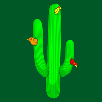 Birds In A Cactus by SteveOramA