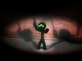 almost Sam Fisher by red-shuhart