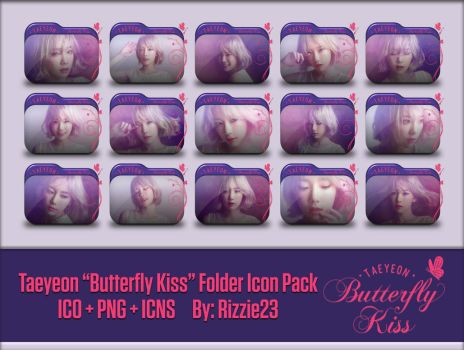Taeyeon Butterfly Kiss Folder Icon Pack by Rizzie23