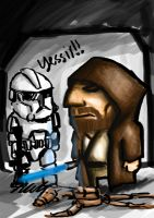 Obiwan and CloneTrooper by Amrey
