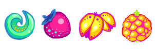 vector fruit by BadgersBakery