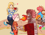 Nalu fluff week prompt 7: Marriage/Family life by Misuru