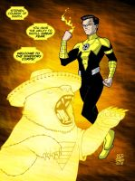 Yellow Lantern Stephen Colbert by drawerofdrawings