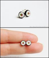 Sushi Post Earrings by Bon-AppetEats