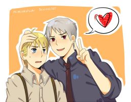 prussia and germany- teenagers by miimiiakatsuki