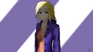 Girl in a violet coat [Speed draw video] by abysan