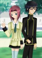 Code Geass: Lelouch and Kallen by tenshi-789