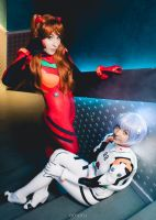 Asuka and Rei by NikitaCosplay