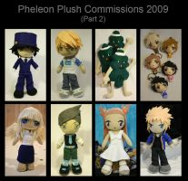 Plush Commissions 2009 part 2 by pheleon