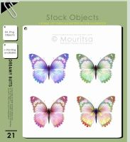 Object Pack - Dreamy Butterflies by MouritsaDA-Stock