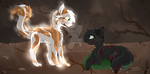 .:Warriors:. Fallen Leaves and Hollyleaf by Artemiie