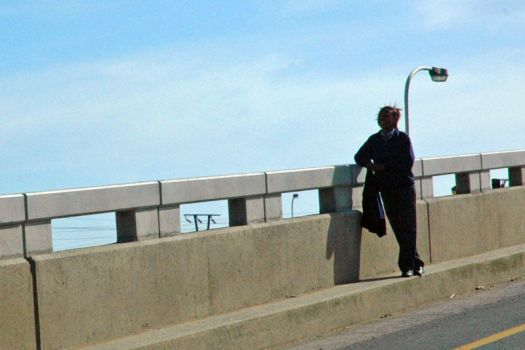 on the bridge by wreckfish