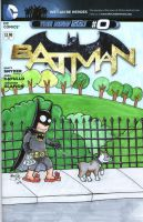 Batman Takes His Dog For a Walk by johnnyism