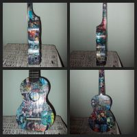 Buffy the Vampire Slayer decoupage ukulele by Fazer27