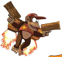 Diddy Kong by BeardBeyond